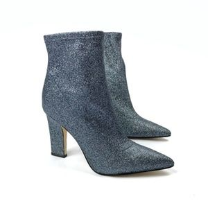 Guess Aspire Glitter Heeled Booties 6.5M Blue